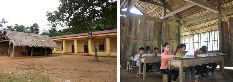 ミンンガ村の小学校(分校)校舎外観