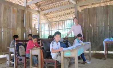ミンンガ村の小学校(分校)の子どもたち