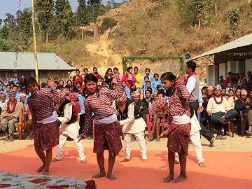 ネパール シュリー・カリカ小学校の開校式